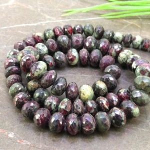 Shop Ruby Zoisite Faceted Beads! Natural Whisky Quartz 10.5-23mm Step Cut Nuggets Shape Gemstone Beads / Approx. 26 Pieces on 16 Inch Long Strand / JBC-ET-157093 | Natural genuine faceted Ruby Zoisite beads for beading and jewelry making.  #jewelry #beads #beadedjewelry #diyjewelry #jewelrymaking #beadstore #beading #affiliate #ad