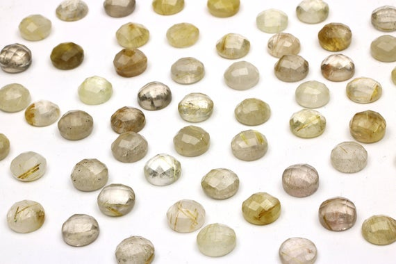 Rutilated Quartz Stone,gemstone Cabochons,faceted Cabochons,rose Cut Cabochons,stone Semiprecious,real Gemstones,round Cabochons Wholesale