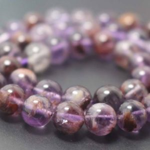 Natural AA Purple Rutile Quartz Round Beads,6mm/8mm/10mm/12mm Rutile Quartz Beads supply,15 inches one starand | Natural genuine beads Gemstone beads for beading and jewelry making.  #jewelry #beads #beadedjewelry #diyjewelry #jewelrymaking #beadstore #beading #affiliate #ad