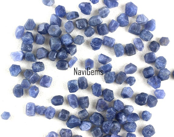 Aaa Quality 10 Pieces Natural Blue Sapphire ,sapphire Rough Gemstone,making Jewelry,4-5 Mm Approx,sapphire,loose Gemstone,wholesale Price