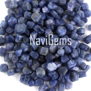 AAA Quality 10 Pieces Blue Sapphire ,Natural Sapphire Rough Gemstone,Making Jewelry,6-8 MM Approx,Sapphire,Loose Gemstone,Wholesale Price | Natural genuine chip Sapphire beads for beading and jewelry making.  #jewelry #beads #beadedjewelry #diyjewelry #jewelrymaking #beadstore #beading #affiliate #ad