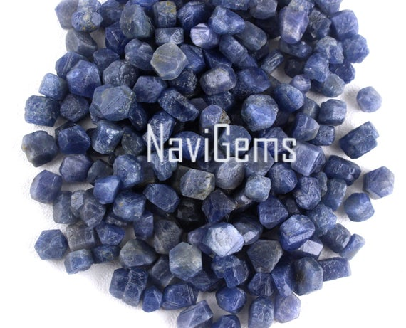 Aaa Quality 10 Pieces Blue Sapphire ,natural Sapphire Rough Gemstone,making Jewelry,6-8 Mm Approx,sapphire,loose Gemstone,wholesale Price