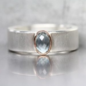 Shop Sapphire Rings! Checkerboard Rose-Cut Montana Sapphire Ring Steel Blue Wide Silver 14K Rose Gold American Gemstone Band September Birthstone – Stahl Royale | Natural genuine Sapphire rings, simple unique handcrafted gemstone rings. #rings #jewelry #shopping #gift #handmade #fashion #style #affiliate #ad