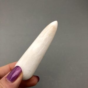 """Shop Scolecite Points & Wands! One Polished 3"""" Scolecite Wand 
