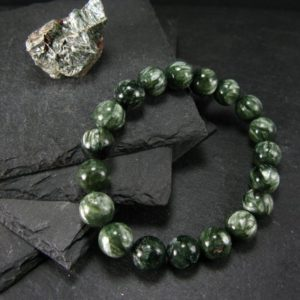 Shop Seraphinite Bracelets! Seraphinite Clinochlore Genuine Bracelet ~ 7 Inches ~ 10mm Round Beads | Natural genuine Seraphinite bracelets. Buy crystal jewelry, handmade handcrafted artisan jewelry for women.  Unique handmade gift ideas. #jewelry #beadedbracelets #beadedjewelry #gift #shopping #handmadejewelry #fashion #style #product #bracelets #affiliate #ad