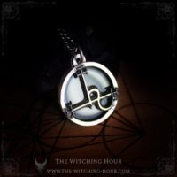 Sigil Of Lilith Pendant, Seal Of Lilith Necklace With Rainbow Obsidian, Luciferian Jewelry | Natural genuine Gemstone jewelry. Buy crystal jewelry, handmade handcrafted artisan jewelry for women.  Unique handmade gift ideas. #jewelry #beadedjewelry #beadedjewelry #gift #shopping #handmadejewelry #fashion #style #product #jewelry #affiliate #ad