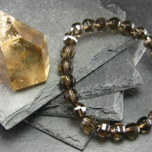 Shop Smoky Quartz Bracelets! Smoky Quartz Genuine Bracelet ~ 7 Inches  ~ 8mm Facetted Beads | Natural genuine Smoky Quartz bracelets. Buy crystal jewelry, handmade handcrafted artisan jewelry for women.  Unique handmade gift ideas. #jewelry #beadedbracelets #beadedjewelry #gift #shopping #handmadejewelry #fashion #style #product #bracelets #affiliate #ad