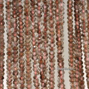 Shop Smoky Quartz Faceted Beads! 4x3mm Light Smoky Quartz Gemstone Faceted Rondelle 4x3mm Loose Beads 7.5 inch Half Strand (90192044-341)   Natural genuine faceted Smoky Quartz beads for beading and jewelry making.  #jewelry #beads #beadedjewelry #diyjewelry #jewelrymaking #beadstore #beading #affiliate #ad