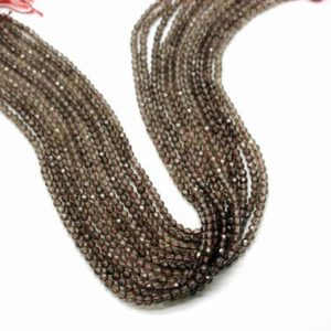 Shop Smoky Quartz Faceted Beads! Custom Beads,Smoky quartz beads,gemstone beads,round beads,faceted beads,semiprecious beads,beads supplies,jewelry making,AA Quality | Natural genuine faceted Smoky Quartz beads for beading and jewelry making.  #jewelry #beads #beadedjewelry #diyjewelry #jewelrymaking #beadstore #beading #affiliate #ad