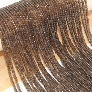 Shop Smoky Quartz Faceted Beads! Natural Smoky Quartz Rondelle Faceted Beads,2.5x4mm Semi Precious Stone Beads,Crystals Quartz Beads,Wholesale Loose Jewelry Beads Gemstone.   Natural genuine faceted Smoky Quartz beads for beading and jewelry making.  #jewelry #beads #beadedjewelry #diyjewelry #jewelrymaking #beadstore #beading #affiliate #ad