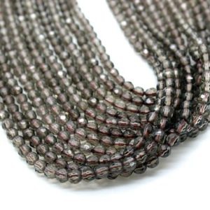 Shop Smoky Quartz Faceted Beads! Round faceted beads,gemstone beads,semiprecious beads,smoky quartz beads,smokey beads,round beads,facet rounds,delicate beads,AA Quality | Natural genuine faceted Smoky Quartz beads for beading and jewelry making.  #jewelry #beads #beadedjewelry #diyjewelry #jewelrymaking #beadstore #beading #affiliate #ad