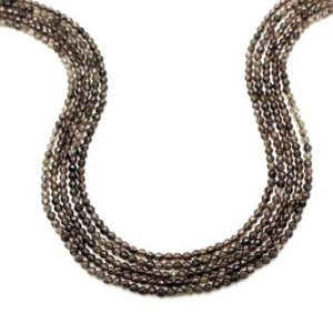 Shop Smoky Quartz Necklaces! Tiny 2mm beads,smoky quartz beads,small beads,semiprecious beads,gemstone beads,faceted beads,facet beads,beaded necklace,AA Quality | Natural genuine Smoky Quartz necklaces. Buy crystal jewelry, handmade handcrafted artisan jewelry for women.  Unique handmade gift ideas. #jewelry #beadednecklaces #beadedjewelry #gift #shopping #handmadejewelry #fashion #style #product #necklaces #affiliate #ad