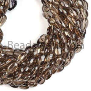 Shop Smoky Quartz Bead Shapes! Natural Smoky Quartz Smooth Oval Shape Beads, Smoky Quartz Plain Beads, Smooth Smoky Quartz Beads, Smoky Quartz Natural Beads | Natural genuine other-shape Smoky Quartz beads for beading and jewelry making.  #jewelry #beads #beadedjewelry #diyjewelry #jewelrymaking #beadstore #beading #affiliate #ad