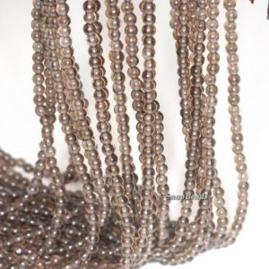 Shop Smoky Quartz Round Beads! 3mm Champagne Smoky Quartz Gemstone Deep Grade AAA Round 3mm Loose Beads 16 inch Full Strand (90113614-107 – 3mm D) | Natural genuine round Smoky Quartz beads for beading and jewelry making.  #jewelry #beads #beadedjewelry #diyjewelry #jewelrymaking #beadstore #beading #affiliate #ad