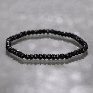 Shop Spinel Bracelets! Genuine Black Spinel Beads Bracelet, Faceted Black Spinel Stone Stretch Bracelet, Protection Bracelet, Delicate Black Spinel Unisex Jewelry   Natural genuine Spinel bracelets. Buy crystal jewelry, handmade handcrafted artisan jewelry for women.  Unique handmade gift ideas. #jewelry #beadedbracelets #beadedjewelry #gift #shopping #handmadejewelry #fashion #style #product #bracelets #affiliate #ad