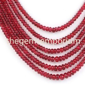 Shop Spinel Necklaces! Top Quality Red Spinel Plain Rondelle Necklace, red Spinel Smooth Necklace, Aaa Qualtiy, wholesale Beads, red Spinel Necklace (3-6mm)beads | Natural genuine Spinel necklaces. Buy crystal jewelry, handmade handcrafted artisan jewelry for women.  Unique handmade gift ideas. #jewelry #beadednecklaces #beadedjewelry #gift #shopping #handmadejewelry #fashion #style #product #necklaces #affiliate #ad