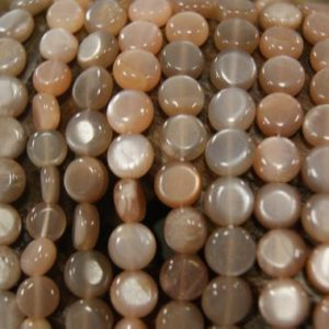 Shop Sunstone Bead Shapes! Sunstone 8-9x3mm Flat Coin  Gemstone Beads -15.5 inch strand | Natural genuine other-shape Sunstone beads for beading and jewelry making.  #jewelry #beads #beadedjewelry #diyjewelry #jewelrymaking #beadstore #beading #affiliate #ad