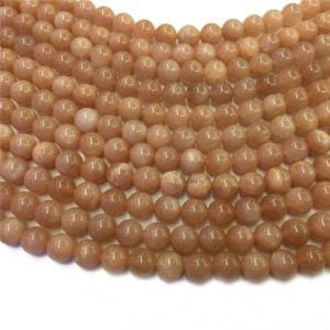 Shop Sunstone Round Beads! 6mm Natural Sunstone Beads, Round Gemstone Beads, Wholesale Beads | Natural genuine round Sunstone beads for beading and jewelry making.  #jewelry #beads #beadedjewelry #diyjewelry #jewelrymaking #beadstore #beading #affiliate #ad