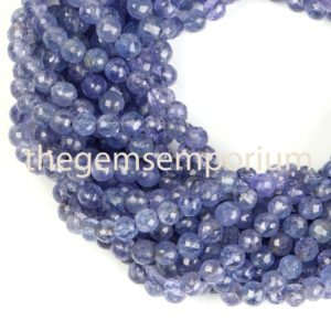 Shop Tanzanite Beads! Tanzanite Faceted Round Shape Beads, Tanzanite Faceted Beads, Tanzanite Faceted Round, Tanzanite Round Beads, Tanzanite Beads | Natural genuine beads Tanzanite beads for beading and jewelry making.  #jewelry #beads #beadedjewelry #diyjewelry #jewelrymaking #beadstore #beading #affiliate #ad