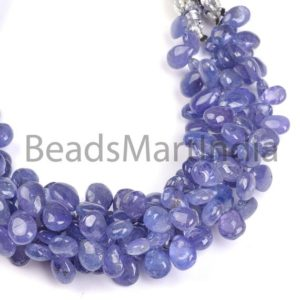Tanzanite Plain Pear Beads, Tanzanite Smooth Beads, Tanzanite Beads, Tanzanite Pear Beads, Tanzanite Plain Beads, Blue Tanzanite Beads | Natural genuine other-shape Tanzanite beads for beading and jewelry making.  #jewelry #beads #beadedjewelry #diyjewelry #jewelrymaking #beadstore #beading #affiliate #ad