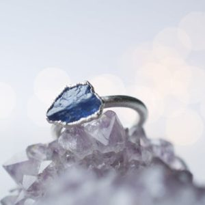 Shop Tanzanite Rings! Silver Tanzanite ring | Stone stacking ring | Electroformed jewelry | Birthstone jewelry | Birthstone Ring | Natural genuine Tanzanite rings, simple unique handcrafted gemstone rings. #rings #jewelry #shopping #gift #handmade #fashion #style #affiliate #ad