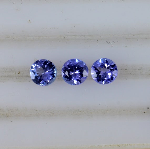 5x5 Mm Natural Tanzanite Faceted Round Aaa Grade Loose Gemstone - 100% Natural Tanzanite Gemstone - Tanzanite Jewelry - Tzblu-01044