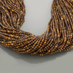 Shop Tiger Eye Faceted Beads! Tiger eye 2mm gemstone beads for jewelry making,brown yellow beads, round faceted 15 inch beads strand | Natural genuine faceted Tiger Eye beads for beading and jewelry making.  #jewelry #beads #beadedjewelry #diyjewelry #jewelrymaking #beadstore #beading #affiliate #ad
