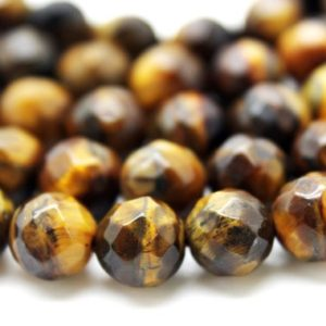 "Shop Tiger Eye Faceted Beads! Tiger eye beads,gemstone beads,faceted round beads,faceted beads,beads wholesale,beads strands,6mm – 16"" Strand 