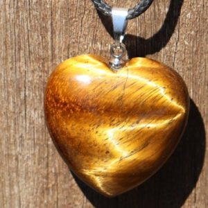 Shop Tiger Eye Necklaces! Tigers Eye Heart Healing Stone Necklace with Positive Healing Energy! | Natural genuine Tiger Eye necklaces. Buy crystal jewelry, handmade handcrafted artisan jewelry for women.  Unique handmade gift ideas. #jewelry #beadednecklaces #beadedjewelry #gift #shopping #handmadejewelry #fashion #style #product #necklaces #affiliate #ad