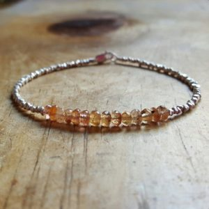 Shop Topaz Bracelets! Imperial Topaz Bracelet Imperial Topaz Bracelets November Birthstone Bracelet Beaded Bracelets For Women Topaz Beaded Bracelet Womens Gift | Natural genuine Topaz bracelets. Buy crystal jewelry, handmade handcrafted artisan jewelry for women.  Unique handmade gift ideas. #jewelry #beadedbracelets #beadedjewelry #gift #shopping #handmadejewelry #fashion #style #product #bracelets #affiliate #ad