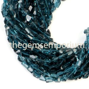 Shop Topaz Beads! London Blue Topaz Faceted Fancy Nugget Shape Beads, Topaz Faceted Fancy Beads, Topaz Nugget Beads, London Blue Topaz Beads, Blue Topaz Beads | Natural genuine beads Topaz beads for beading and jewelry making.  #jewelry #beads #beadedjewelry #diyjewelry #jewelrymaking #beadstore #beading #affiliate #ad