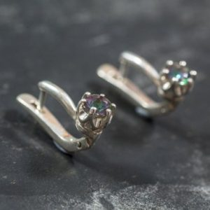 Shop Topaz Earrings! Mystic Topaz Earrings, Natural Topaz Earrings, Purple Earrings, November Earrings, Unique Earrings, Stud Earrings, Silver Earrings, Topaz   Natural genuine Topaz earrings. Buy crystal jewelry, handmade handcrafted artisan jewelry for women.  Unique handmade gift ideas. #jewelry #beadedearrings #beadedjewelry #gift #shopping #handmadejewelry #fashion #style #product #earrings #affiliate #ad