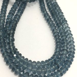 """Shop Topaz Faceted Beads! 63 Carats Grey Topaz Faceted Rondelle 5.5 to 6.5 mm 8"""" /Gemstone Beads/Semi Precious Beads/Faceted Beads/Grey Topaz Beads 
