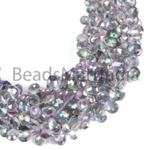 Shop Topaz Faceted Beads! Mystic Topaz Faceted Pears Shape Natural Beads, Mystic Topaz Beads, Faceted Mystic Topaz Beads, Side Drill Pears Shape Mystic Topaz Beads | Natural genuine faceted Topaz beads for beading and jewelry making.  #jewelry #beads #beadedjewelry #diyjewelry #jewelrymaking #beadstore #beading #affiliate #ad