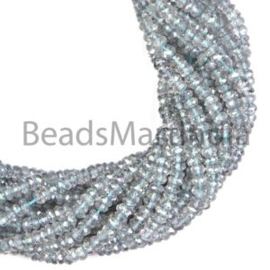 Shop Topaz Faceted Beads! Mystic Topaz Faceted Rondelle Shape Beads, Mystic Topaz Beads, Faceted Mystic Topaz Beads, Mystic Topaz Rondelle Beads 4-4.5mm | Natural genuine faceted Topaz beads for beading and jewelry making.  #jewelry #beads #beadedjewelry #diyjewelry #jewelrymaking #beadstore #beading #affiliate #ad