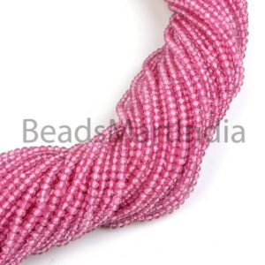 Shop Topaz Faceted Beads! Pink Topaz Faceted Rondelle Machine Cut Gemstone Beads, Pink Topaz Rondelle Beads, Pink Topaz Faceted Beads, Pink Topaz Beads, AAA Quality | Natural genuine faceted Topaz beads for beading and jewelry making.  #jewelry #beads #beadedjewelry #diyjewelry #jewelrymaking #beadstore #beading #affiliate #ad