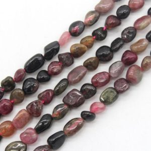 Shop Tourmaline Chip & Nugget Beads! 6-7mm Nugget Tourmaline Beads,Irregular Tourmaline Beads strand, Loose Gemstone Pebble beads,Jewelry beads-15.5-NST1220-18 | Natural genuine chip Tourmaline beads for beading and jewelry making.  #jewelry #beads #beadedjewelry #diyjewelry #jewelrymaking #beadstore #beading #affiliate #ad