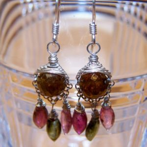 Shop Tourmaline Earrings! Tourmaline  chandelier earrings | Natural genuine Tourmaline earrings. Buy crystal jewelry, handmade handcrafted artisan jewelry for women.  Unique handmade gift ideas. #jewelry #beadedearrings #beadedjewelry #gift #shopping #handmadejewelry #fashion #style #product #earrings #affiliate #ad