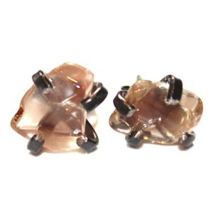 Shop Sunstone Earrings! Tumbled Oregon Sunstone Black Gold Stud Earring Organic Sunstone Jewelry Free Form Earring Sunstone Prong Set Earring Raw Gemstones Schiller | Natural genuine Sunstone earrings. Buy crystal jewelry, handmade handcrafted artisan jewelry for women.  Unique handmade gift ideas. #jewelry #beadedearrings #beadedjewelry #gift #shopping #handmadejewelry #fashion #style #product #earrings #affiliate #ad