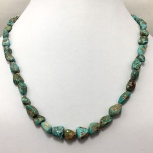 "Shop Turquoise Chip & Nugget Beads! 131 cts Natural Turquoise Smooth Nuggets Gemstone Beads 18"" Turquoise Beads/Gemstone Beads/Semi precious Beads/Rare Gemstones/Necklace 