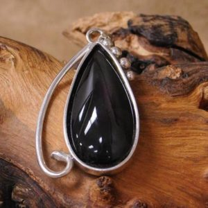 Shop Rainbow Obsidian Pendants! Vintage Sterling Silver And Rainbow Obsidian Pendant | Natural genuine Rainbow Obsidian pendants. Buy crystal jewelry, handmade handcrafted artisan jewelry for women.  Unique handmade gift ideas. #jewelry #beadedpendants #beadedjewelry #gift #shopping #handmadejewelry #fashion #style #product #pendants #affiliate #ad