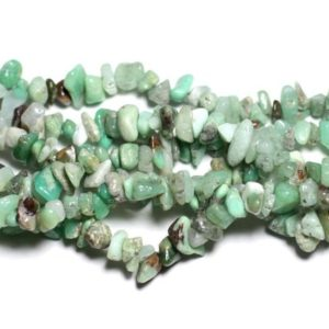 Shop Chrysoprase Chip & Nugget Beads! Wire 89cm 270pc env – stone beads – Chrysoprase rock Chips 5-10mm | Natural genuine chip Chrysoprase beads for beading and jewelry making.  #jewelry #beads #beadedjewelry #diyjewelry #jewelrymaking #beadstore #beading #affiliate #ad