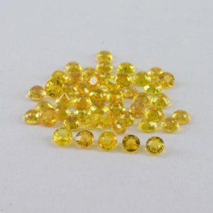 Shop Yellow Sapphire Stones & Crystals! 3 mm Natural Yellow Sapphire Faceted Cut Round Precious Loose Gemstone – 100% Natural Sapphire Gemstone – Yellow Sapphire Round – SA3YLU | Natural genuine stones & crystals in various shapes & sizes. Buy raw cut, tumbled, or polished gemstones for making jewelry or crystal healing energy vibration raising reiki stones. #crystals #gemstones #crystalhealing #crystalsandgemstones #energyhealing #affiliate #ad