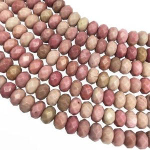 Shop Rhodonite Rondelle Beads! 8x5mm Faceted Pink Rhodonite Rondelle Beads, Rondelle Stone Beads, Gemstone Beads | Natural genuine rondelle Rhodonite beads for beading and jewelry making.  #jewelry #beads #beadedjewelry #diyjewelry #jewelrymaking #beadstore #beading #affiliate #ad