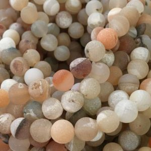 Druzy Beads, 8mm Beads, Matte Beads, Druzy Agate, Frosted Beads, Druzy Agate Beads, Gemstone Beads, Multicolor Beads, Grey Beads, Peach Tone | Natural genuine other-shape Agate beads for beading and jewelry making.  #jewelry #beads #beadedjewelry #diyjewelry #jewelrymaking #beadstore #beading #affiliate #ad