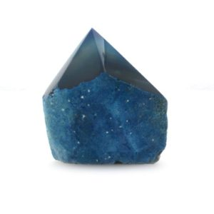 Shop Agate Points & Wands! Blue Agate Crystal, Dyed Polished Point | Natural genuine stones & crystals in various shapes & sizes. Buy raw cut, tumbled, or polished gemstones for making jewelry or crystal healing energy vibration raising reiki stones. #crystals #gemstones #crystalhealing #crystalsandgemstones #energyhealing #affiliate #ad