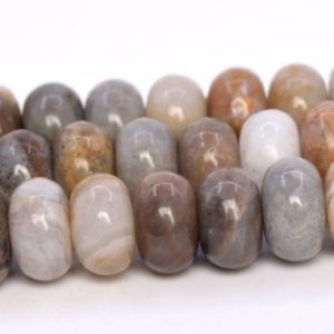 Shop Agate Rondelle Beads! Crazy Lace Agate Beads Grade AAA Genuine Natural Gemstone Rondelle Loose Beads 6x4MM 8x5MM Bulk Lot Options | Natural genuine rondelle Agate beads for beading and jewelry making.  #jewelry #beads #beadedjewelry #diyjewelry #jewelrymaking #beadstore #beading #affiliate #ad