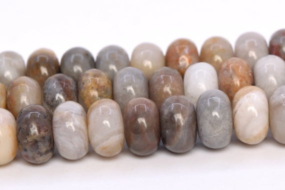 Crazy Lace Agate Beads Grade Aaa Genuine Natural Gemstone Rondelle Loose Beads 6x4mm 8x5mm Bulk Lot Options