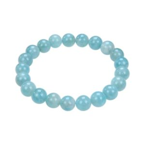 "Shop Amazonite Bracelets! Amazonite Bracelet Smooth Round Size 10mm 7.5"" Length 
