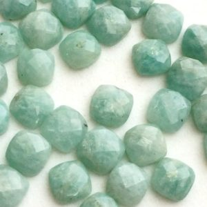 Shop Amazonite Cabochons! 7.5-8mm Amazonite Rose Cut Flat Back Cabochons, Amazonite Faceted Cushion Cabochons, Loose Amazonite For Jewelry (5pcs To 10pcs Options) | Natural genuine stones & crystals in various shapes & sizes. Buy raw cut, tumbled, or polished gemstones for making jewelry or crystal healing energy vibration raising reiki stones. #crystals #gemstones #crystalhealing #crystalsandgemstones #energyhealing #affiliate #ad